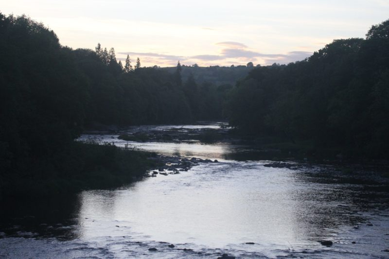 The River Wye near Radnor House and Hay-on-Wye