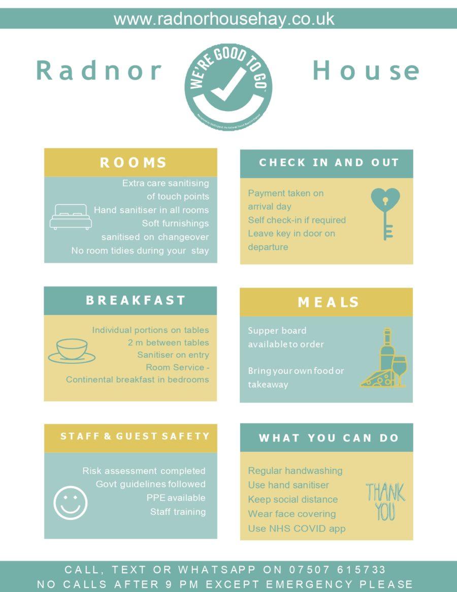radnor house covid-19 poster